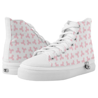 Pink Fidget Spinners Design High Top Shoes