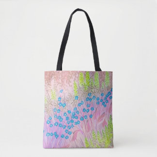 Pink Fields Tote Bag