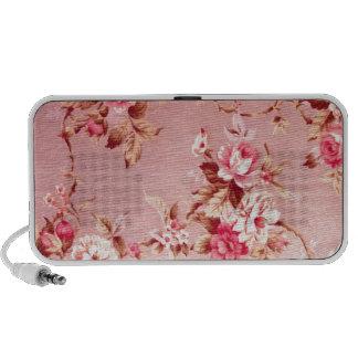 Pink Fifties Floral Pattern. Notebook Speaker