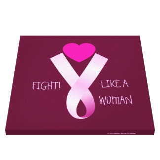 Pink Fight Canvas Print