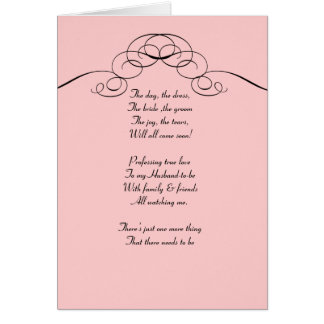 Pink  Filigree Be my bridemaid card