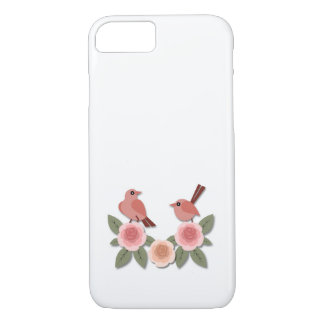 Pink Finches on Pink Peonies iPhone 8/7 Case