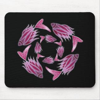 Pink Fish Circling Mousepad
