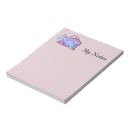 Pink Fish Notepad