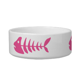 Pink Fishbones Bowl