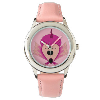 pink fishy fish cute cartoon wrist watch girls