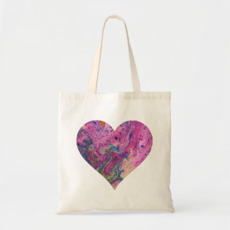 Pink Fizz Heart Shopping Tote