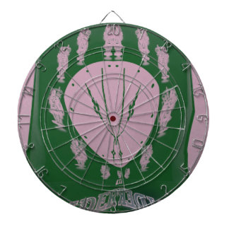 Pink Flag Dartboard With Darts