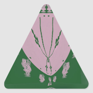 Pink Flag Triangle Sticker
