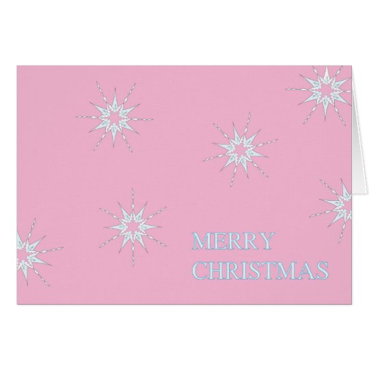 Pink Flakes Card