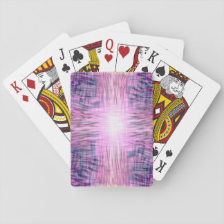 Pink Flames Playing Cards