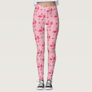Pink Flamingo All Over Pattern Leggings