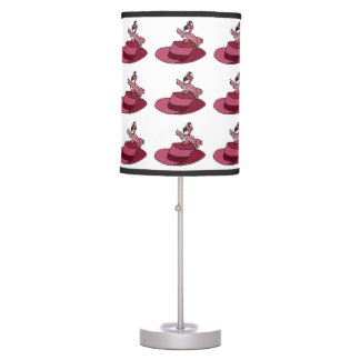 Pink Flamingo and Feathered Hat Desk Lamps