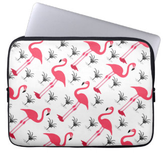 Pink Flamingo and Palm Tree Computer Sleeves