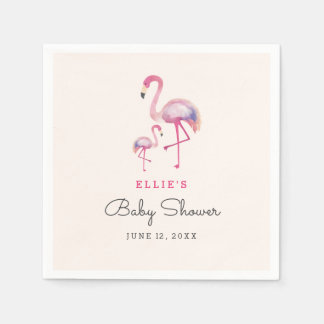 Pink Flamingo Baby Shower Napkin Paper Napkins