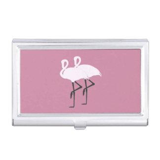 Pink Flamingo Business Card Holder