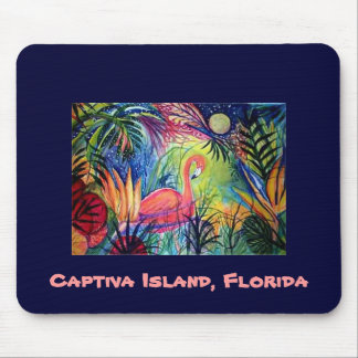 Pink Flamingo - Captiva Island, Florida Mouse Pad