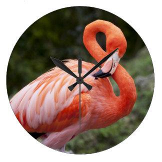 Pink Flamingo Clock