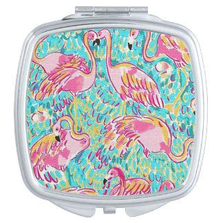 Pink Flamingo Compact Mirror