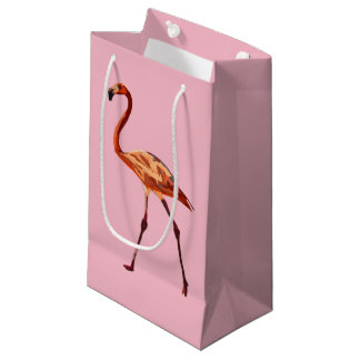 Pink Flamingo Custom Gift Bag - Small, Glossy
