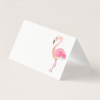 Pink flamingo cute animal place card