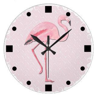 Pink Flamingo design Wall Clock