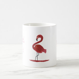 Pink Flamingo Fine Art Painting - Sanibel Island Coffee Mug