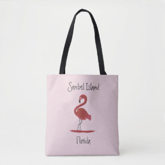 Pink Flamingo Fine Art Painting - Sanibel Island Tote Bag