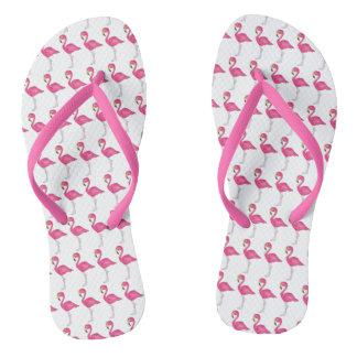 Pink Flamingo Flamingos Tropical Bird Flip Flops