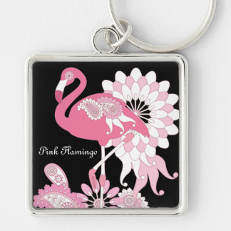 Pink Flamingo Girly Cool Personalized Black