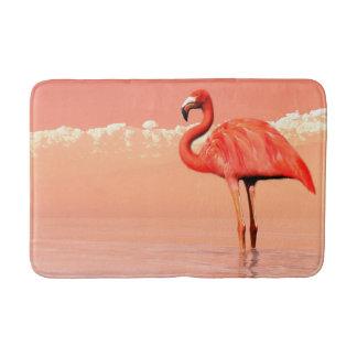 Pink flamingo in the water - 3D render Bath Mat