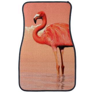 Pink flamingo in the water - 3D render Car Mat