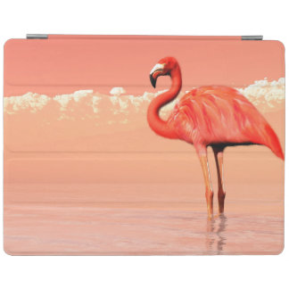 Pink flamingo in the water - 3D render iPad Cover