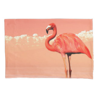 Pink flamingo in the water - 3D render Pillowcase