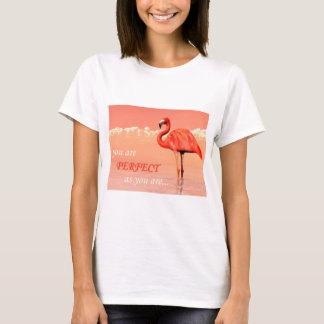 Pink flamingo in the water - 3D render T-Shirt