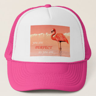 Pink flamingo in the water - 3D render Trucker Hat