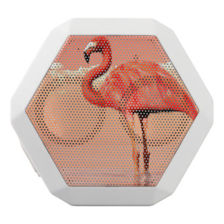 Pink flamingo in the water - 3D render White Bluetooth Speaker