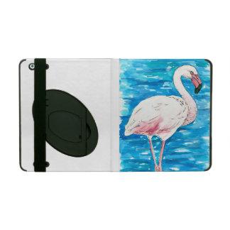 Pink flamingo iPad folio case