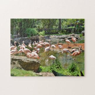 Pink Flamingo Jigsaw Puzzle