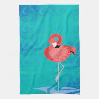 Pink Flamingo Kitchen Towels