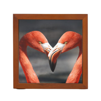 Pink Flamingo Love Desk Organizer