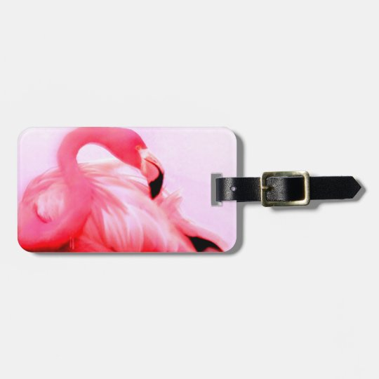 Pink Flamingo Luggage Tag
