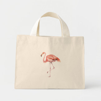 Pink Flamingo Mini Tote Bag