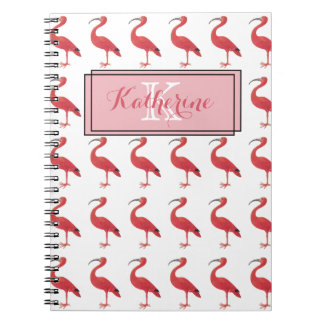 Pink Flamingo Monogram - Fine Art Notebook