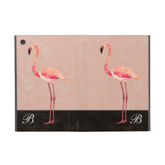 Pink Flamingo Monogram  iPad Case
