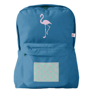 Pink Flamingo on Teal Seamless Pattern Backpack