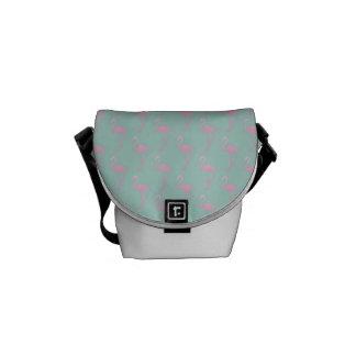 Pink Flamingo on Teal Seamless Pattern Commuter Bag