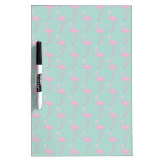 Pink Flamingo on Teal Seamless Pattern Dry Erase Board