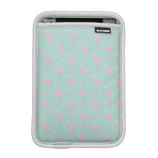 Pink Flamingo on Teal Seamless Pattern iPad Mini Sleeve
