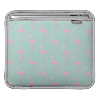 Pink Flamingo on Teal Seamless Pattern iPad Sleeve